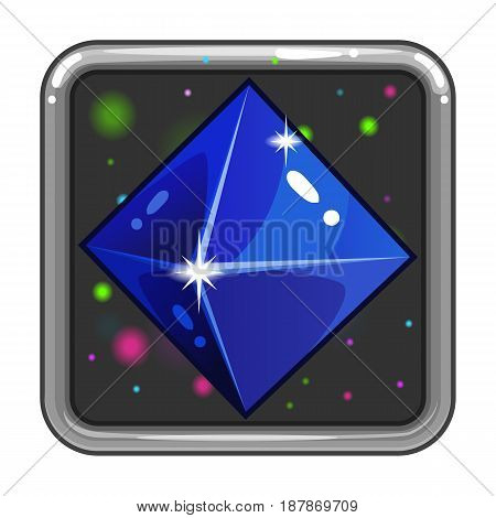 The application icon with gem. Game design interface