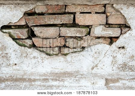 Old weathered brick wall textures and background