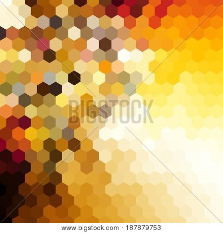 Abstract pattern in low poly style. Yellow hexagons.