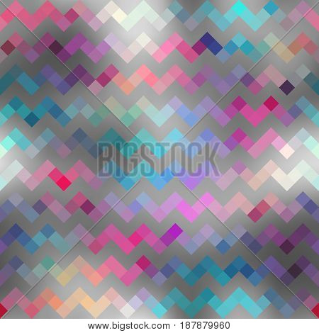 Seamless background pattern. Chevron pattern in low poly abstract style.