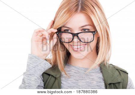 Closeup Of Beautiful Young Blonde Woman