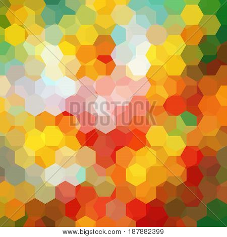 Abstract background consisting of colorful hexagons. Geometric design for business presentations or web template banner flyer. Vector illustration