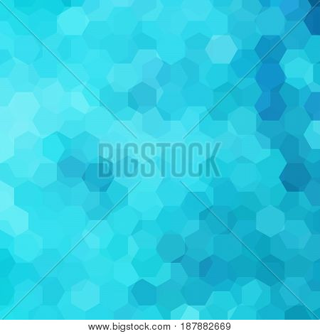 Abstract background consisting of blue hexagons. Geometric design for business presentations or web template banner flyer. Vector illustration