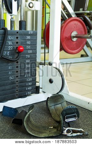 plate with weight category for building muscle in the gym for training