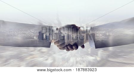 Business greeting or agreement