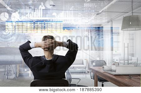 Relaxed businessman in chair