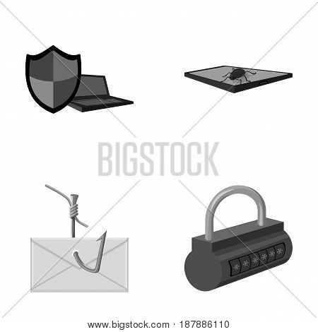 Hacker, system, connection .Hackers and hacking set collection icons in monochrome style vector symbol stock illustration .