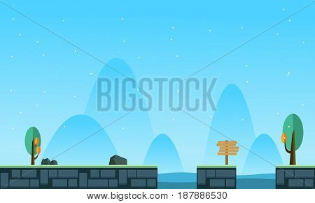 Collection stock game background landscape style vector art