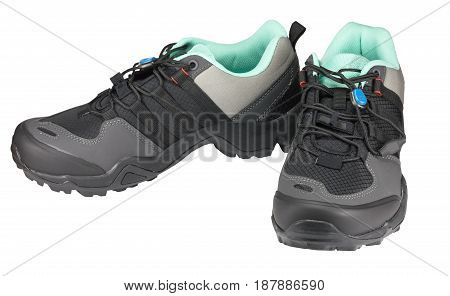 Pair of running shoes isolated on white background
