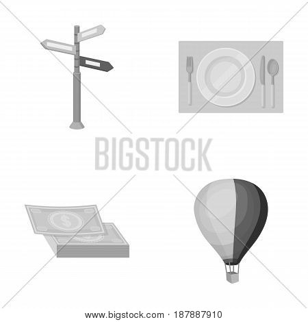 Vacation, travel, pointer, way, navigation .Rest and travel set collection icons in monochrome style vector symbol stock illustration .