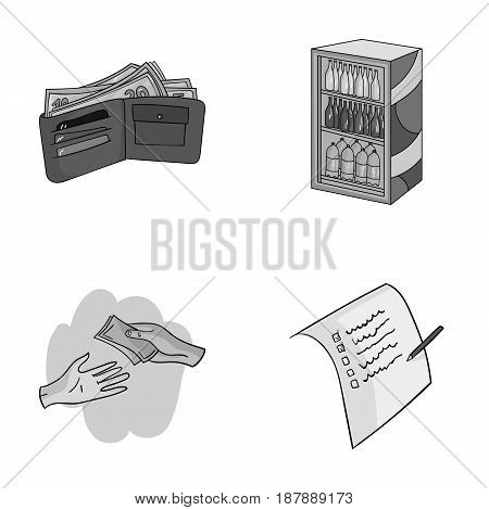 Purchase, goods, shopping, showcase .Supermarket set collection icons in monochrome style vector symbol stock illustration .