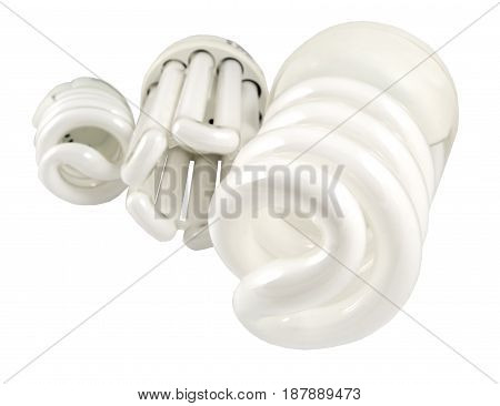 the Economy lamp isolated on white background