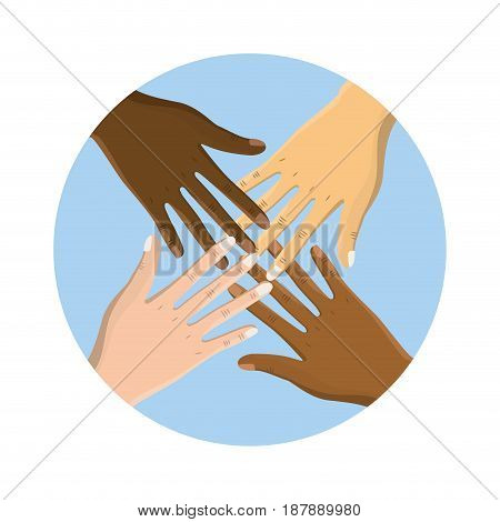 hands near celebrating special day, vector illustration