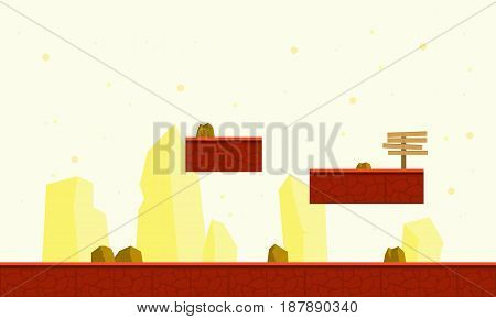 Collection stock of game background style vector art