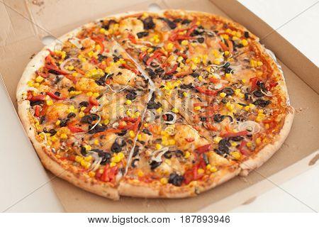 Vegetarian Pizza Fast Food