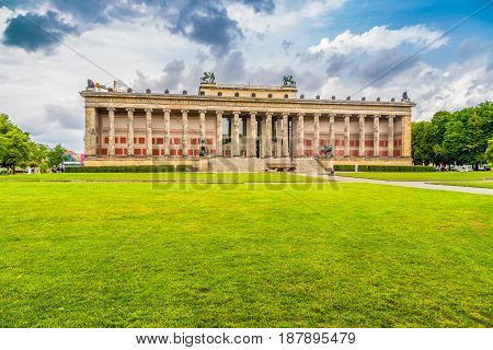Altes Museum With Lustgarten Park In Summer, Berlin, Germany