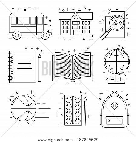 Back To School Set Of Icons