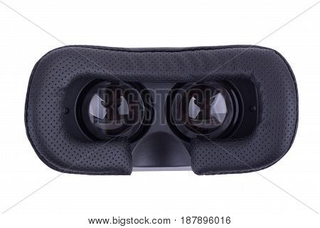 Virtual reality glasses isolated on white background. Video Game VR Glasses