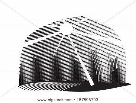 Retro style vintage background black and white. Vector illustration