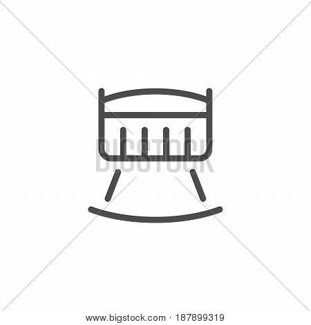 Crib line icon isolated on white. Vector illustration