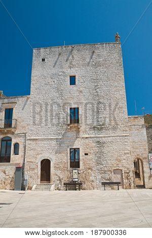 Norman swabian tower. Cisternino. Puglia. Southern Italy.