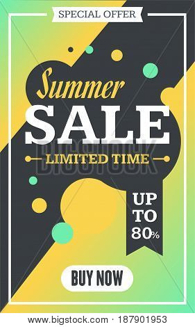Social media summer sale banner. Vector illustrations for website and mobile website banners posters email and newsletter designs ads promotional material.