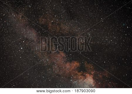 Night Sky With Stars. Milky Way Galaxy.