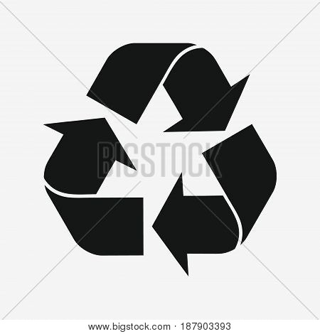 Recycle Sign Isolated On White Background