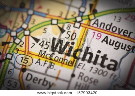 Wichita, Kansas On Map