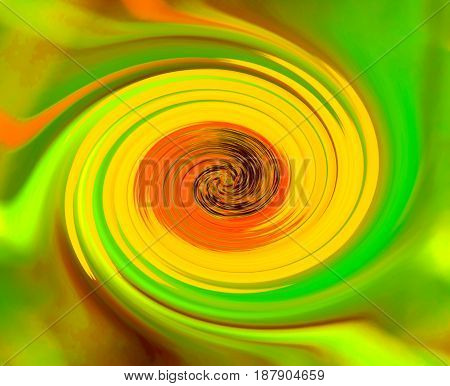 abstract background twirl in green yellow orange color