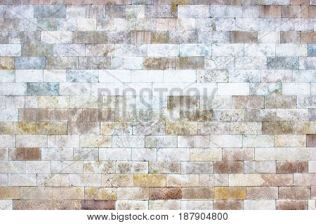The Gray Wall Of Stone Blocks, Brick Light Texture As Background