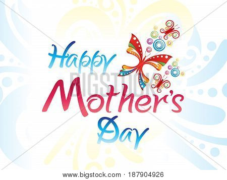 abstract artistic colorful mothers day background vector illustration
