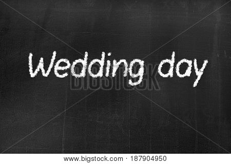 Blackboard With The Text 'wedding Day'