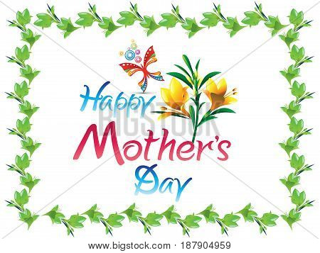 abstract creative mother day background vector illustration