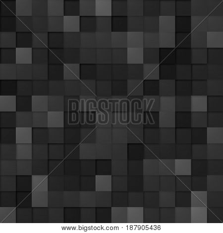 Abstract Random Tile of Black Colors of Various Tones and Saturation