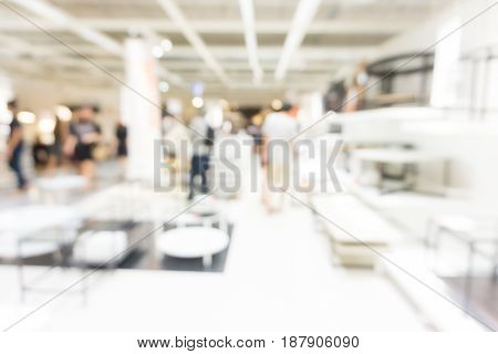 Abstract Blurred Furniture Store Interior Background
