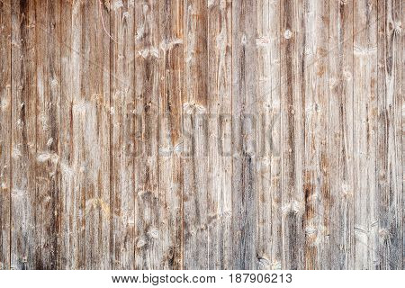 Old Brown Wooden Textured Wall Background
