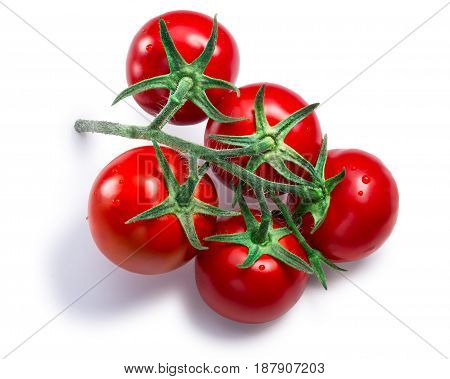 Cluster Of Tomatoes, Paths, Top View