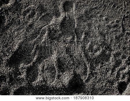 Gravel, soil, abstract grunge background, dark, road