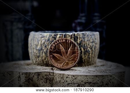 Legalize It, Brass Physical Coin