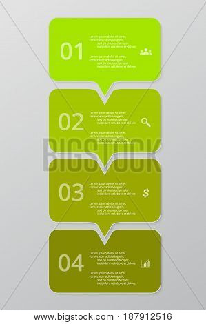 Vector lines arrows infographic. Template for diagram graph presentation and chart. Business concept with 4 options parts steps or processes.