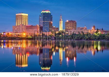 Springfield, Massachusetts, USA Skyline