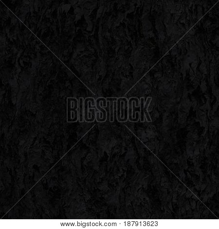 Seamless texture hanging down worn-out ripped rags black cloth or paper. Pattern of rustic fabric material