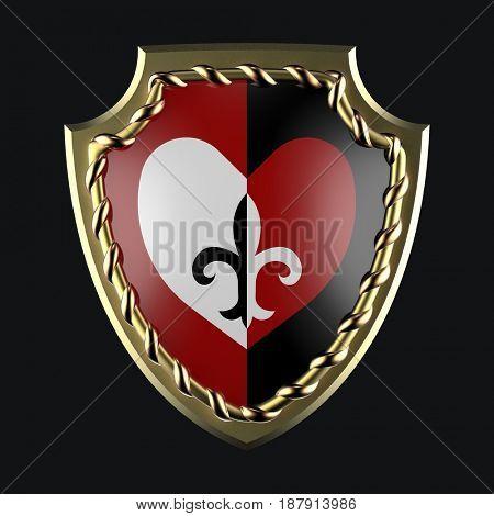 heraldic shield, 3d render