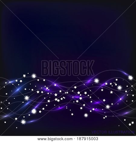 Abstract waves background. Bright vector illustration in blue colors.