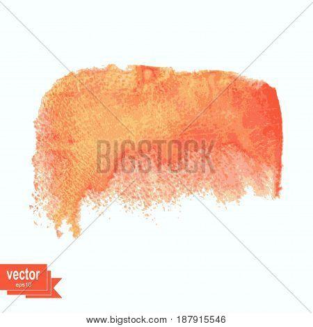 Colored watercolor blotch. Vector illustration. Watercolor design element.