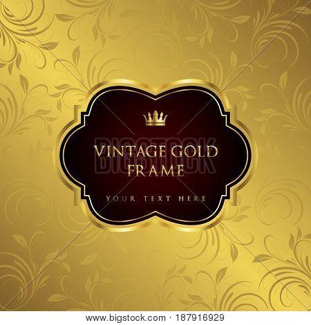 Luxury vintage frame and background - vector design