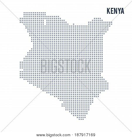 Vector Pixel Map Of Kenya Isolated On White Background