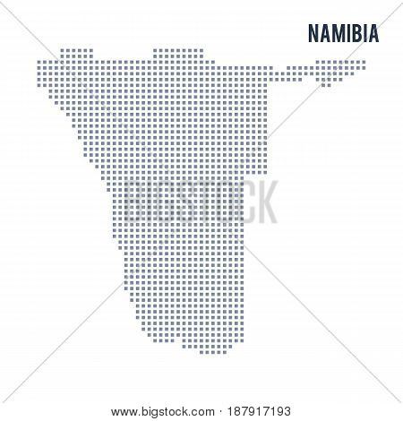 Vector Pixel Map Of Namibia Isolated On White Background