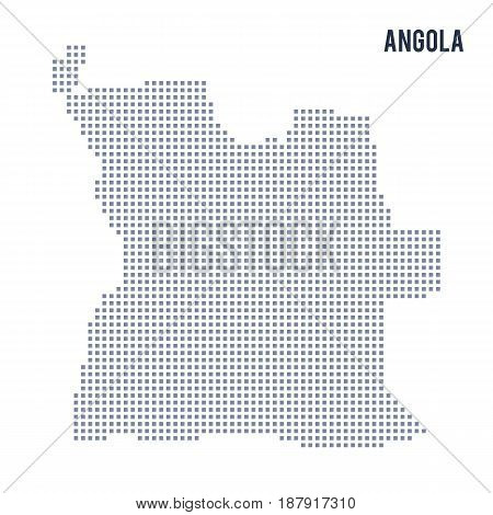 Vector Pixel Map Of Angola Isolated On White Background